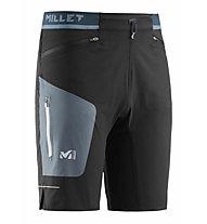 Millet LTK Speed Long S M - pantaloni trekking corti - uomo, Black/Dark Blue