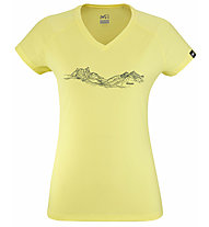 Millet Mountain Lines TS SS W - T-shirt - donna, Yellow