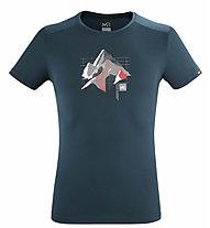 Millet Summit Board TS SS M - T-shirt - uomo, Blue