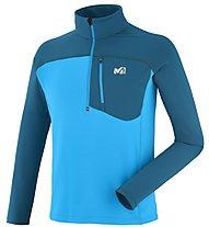 Millet Technostretch - Pullover mit Reißverschluss Wandern - Herren, Light Blue/Blue
