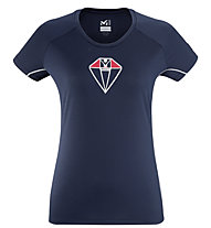 Millet Trilogy DE Diamond TS SS - maglia tecnica - donna, Dark Blue