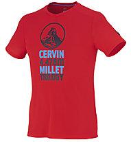 Millet Trilogy Dry Grid T-Shirt trekking, Rouge