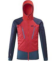 Millet Trilogy Hybrid Alpha - giacca ibrida con cappuccio - uomo, Red/Blue