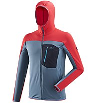 Millet Trilogy Lightgrid Hoodie - giacca in pile - uomo, Red/Blue