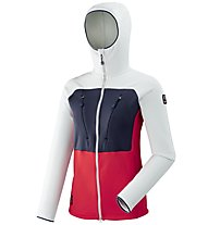 Millet Trilogy Ultimate Power - Fleecejacke mit Kapuze Bergsport - Damen, Grey/Blue/Red