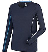 Millet Trilogy Wool Ts Ls Damen Langarmshirt, Blue