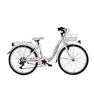 "Montana Bloomy 24"" 6V Revo (2020) - bici da bambina, White"