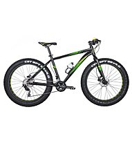 "Montana Fat 26"" Deore 2x10 Fatbike, Black/Green"