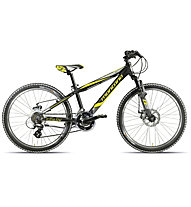 "Montana Spark 24"" Disc Kinderfahrrad, Black/Yellow Matt"