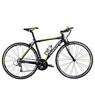 Montana ZeroW Comfort 2017 - Fitnessbike Rennrad, Black/Yellow/Blue