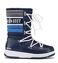 Moon Boot WE Quilted Jr - Stiefel, Blue Navy/Royal/Silver