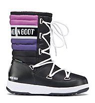 Moon Boot WE Quilted Jr - Stiefel, Black/Violet/Orchid