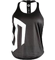 Morotai Brand Stringer - top fitness - donna, Black/White