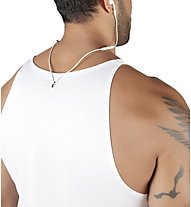 Morotai Brand Tank - canotta fitness - uomo, White/Black