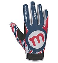 Mottolino Clothing Downhill Gloves - Vollfinger Radhandschuhe - Herren, White/Blue/Red