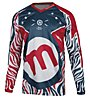 Mottolino Clothing Downhill Jersey - MTB- Radtrikot - Herren, White/Blue/Red