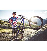 Mottolino Clothing Downhill Jersey - MTB- Radtrikot - Herren, White/Blue/Red