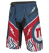 Mottolino Clothing Downhill Shorts - MTB Radhose, White/Blue/Red