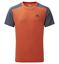 Mountain Equipment Headpoint Block Tee - T-Shirt - Herren, Orange/Grey