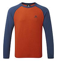 Mountain Equipment Redline - maglia a maniche lunghe - uomo, Orange/Blue