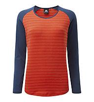 Mountain Equipment Redline - maglia maniche lunghe - donna, Orange/Blue