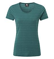 Mountain Equipment Stripe Womens Tee - T-Shirt - Damen, Green