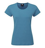 Mountain Equipment Stripe Womens Tee - T-Shirt - Damen, Light Blue