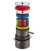 MSR Flex 4 Cook Set - Pfannen und Geschirr, Red/Blue/Green/Grey