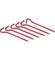 MSR Hook Tent Stakes Kit - set di picchetti per tenda, Red