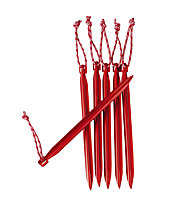 MSR Mini-Groundhog Stake Kit - picchetti per tenda, Red
