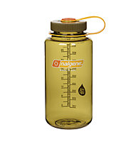 Nalgene 32 Ounce Wide Mouth (1L) - borraccia, Transparent/Olive