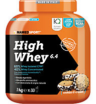 NamedSport High Whey 6.4 Protein-Nahrungsmittelergänzung 1kg, Cookies Cream