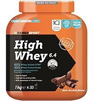 NamedSport High Whey 6.4 1 kg - proteine, Dark Chocolate