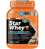 NamedSport Star Whey Perfekt Isolate - Protein-Nahrungsmittelergänzung 750 g, Cookies/Cream