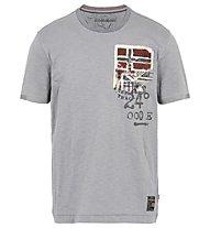 Napapijri Crew Neck SS Stak - T-shirt tempo libero - uomo, Grey