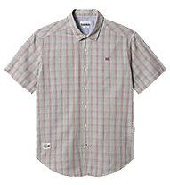 Napapijri Ging SS  Multicheck - camicia a maniche corte - uomo, Grey/Red