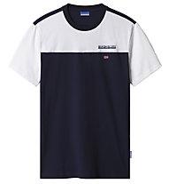Napapijri S-Ice SS - T-Shirt - Herren, Blue/White