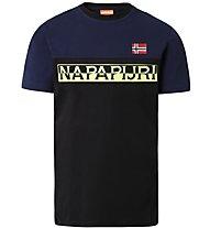Napapijri Saras - T-Shirt - Herren, Black