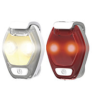 Nathan Hyperbrite Mini 2-Pack - luci stroboscopiche a LED, Grey/White