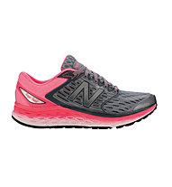 New Balance 1080 Freshfoam W - scarpe running donna, Silver/Pink