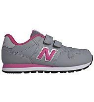 New Balance 500 Kids Scarpe da ginnastica bambini, Grey/Pink