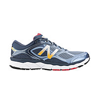 New Balance M860BW6 scarpa running, White/Light Blue