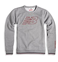 New Balance Crew Neck Fleece - Pullover Fitness - Herren, Grey