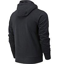 New Balance Essential Stacked Full Zip - felpa con cappuccio - uomo, Black