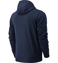 New Balance Essential Stacked Full Zip - felpa con cappuccio - uomo, Blue