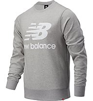 New Balance Essentials Stacked Logo Crew - felpa - uomo, Grey