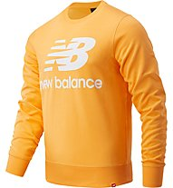 New Balance Essentials Stacked Logo Crew - felpa - uomo, Orange