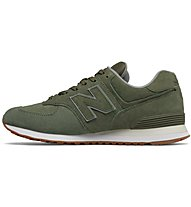New Balance M574 Full Pigskin - sneakers - uomo, Green