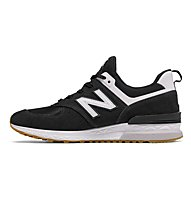 New Balance M574S Suede Mesh - sneakers - uomo, Black