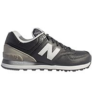New Balance Synthetic Leather WL574 - Turnschuh - Damen, Black/Grey